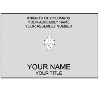 Knights Name Badges-D&G Trophies Inc.-D and G Trophies Inc.