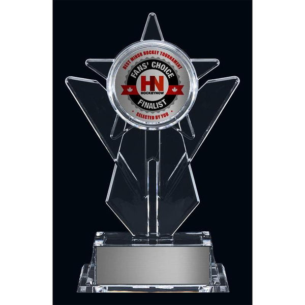 "Krystal Sail 2"" Holder Acrylic Award-D&G Trophies Inc.-D and G Trophies Inc."