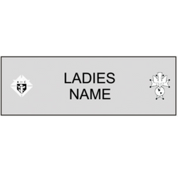 Ladies Pin-On Name Badge-D&G Trophies Inc.-D and G Trophies Inc.