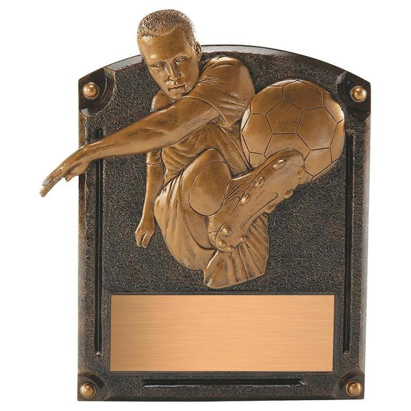 legends of fame soccer resin trophy-D&G Trophies Inc.-D and G Trophies Inc.