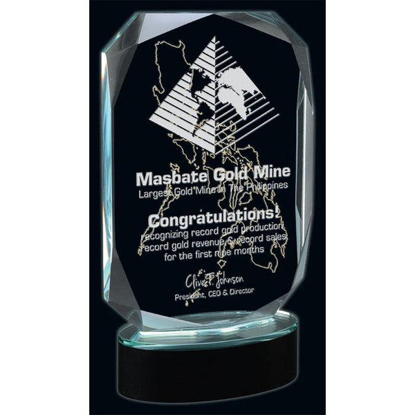 Liberty Optic Crystal Award-D&G Trophies Inc.-D and G Trophies Inc.