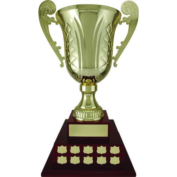 mancini cup - piano base - black piano finish annual award-D&G Trophies Inc.-D and G Trophies Inc.