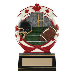 maple leaf football resin trophy-D&G Trophies Inc.-D and G Trophies Inc.