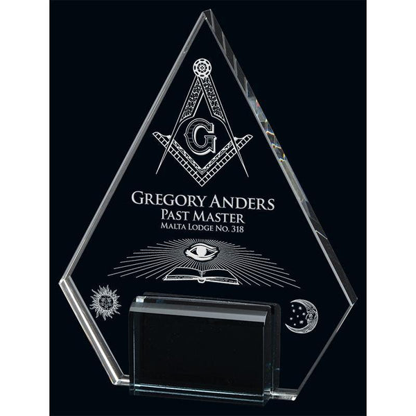 Marquis Pyramid Optic Crystal Award-D&G Trophies Inc.-D and G Trophies Inc.