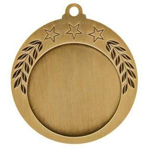 "Medal 1"" Insert 3 Stars/Laurel-D&G Trophies Inc.-D and G Trophies Inc."