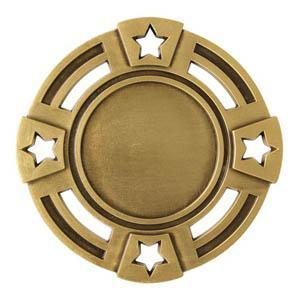 "Medal 1"" Insert 4 Stars-D&G Trophies Inc.-D and G Trophies Inc."