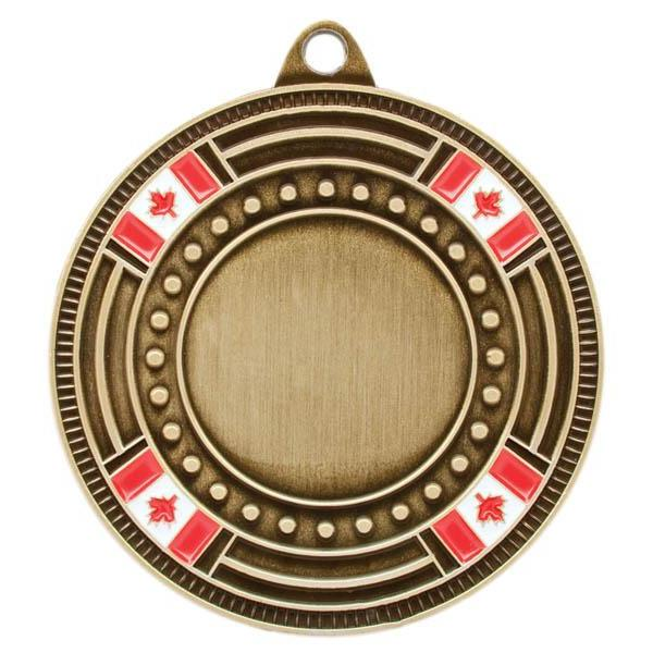 "Medal 1"" Insert Canada Flag-D&G Trophies Inc.-D and G Trophies Inc."