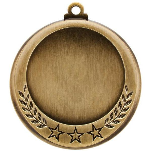 "Medal 2"" Insert 3 Stars/Laurel-D&G Trophies Inc.-D and G Trophies Inc."