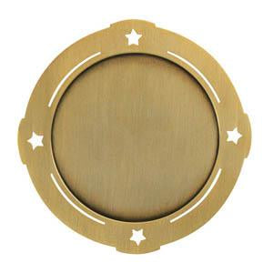 "Medal 2"" Insert 4 Stars, Bright Silver-D&G Trophies Inc.-D and G Trophies Inc."