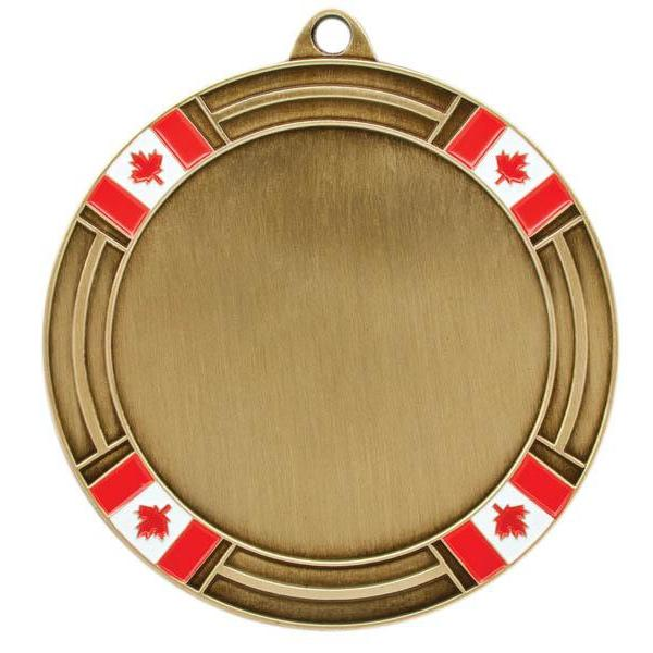 "Medal 2"" Insert Canada Flag-D&G Trophies Inc.-D and G Trophies Inc."