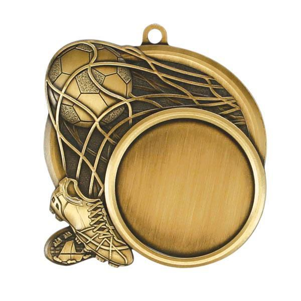 "Medal Sport 1.5"" Insert 2.5"" Dia. Soccer-D&G Trophies Inc.-D and G Trophies Inc."