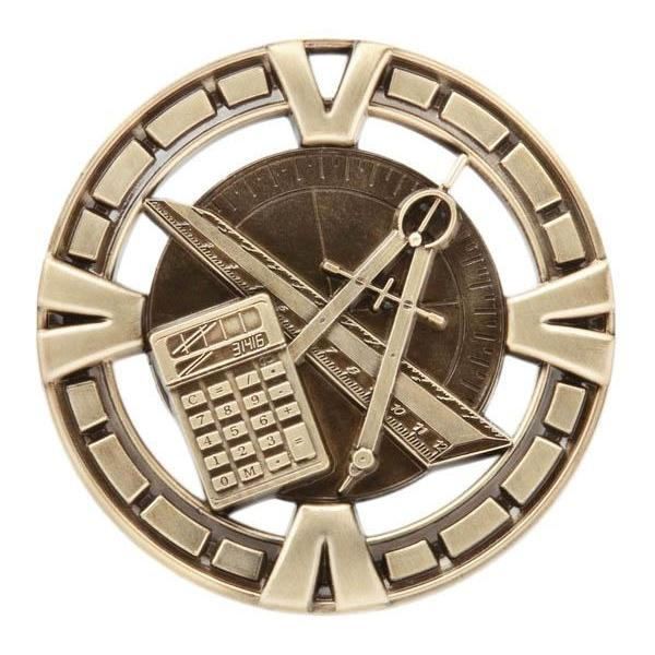 "Medal Sport 2.5"" Math Gold-D&G Trophies Inc.-D and G Trophies Inc."