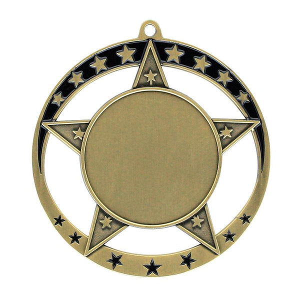"Medal Star 1.5"" Insert 2.75"" Dia.-D&G Trophies Inc.-D and G Trophies Inc."