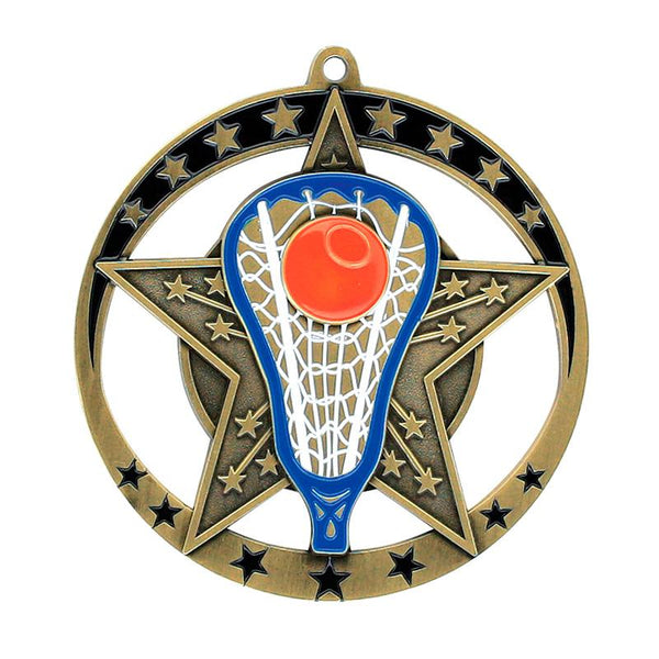"Medal Star Lacrosse 2.75"" Dia.-D&G Trophies Inc.-D and G Trophies Inc."