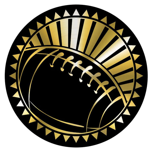 "Metallic Epoxy Dome Insert, Black/Gold Football 2""-D&G Trophies Inc.-D and G Trophies Inc."