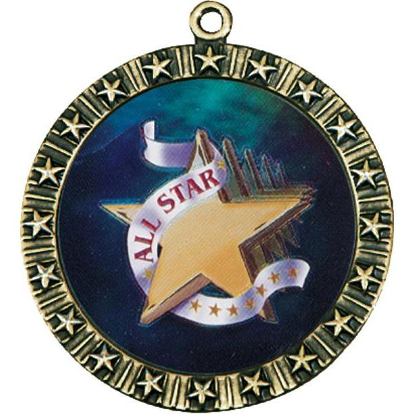 "modern star medal 1"" insert medal-D&G Trophies Inc.-D and G Trophies Inc."