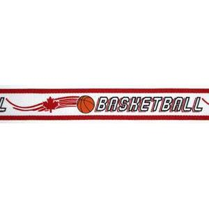 Neck Ribbon w Clip Maple Leaf Basketball-D&G Trophies Inc.-D and G Trophies Inc.
