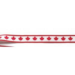 Neck Ribbon w Clip Maple Leaf-D&G Trophies Inc.-D and G Trophies Inc.