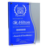 Newport, Blue Acrylic Award-D&G Trophies Inc.-D and G Trophies Inc.