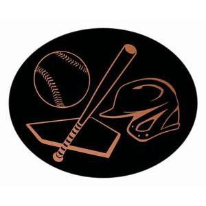 Oval Dome Insert, Black/Bronze Baseball-D&G Trophies Inc.-D and G Trophies Inc.