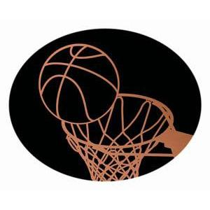 Oval Dome Insert, Black/Bronze Basketball-D&G Trophies Inc.-D and G Trophies Inc.