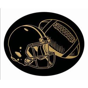 Oval Dome Insert, Black/Gold Football-D&G Trophies Inc.-D and G Trophies Inc.