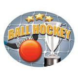 Oval Dome Insert, Full Colour Ball Hockey-D&G Trophies Inc.-D and G Trophies Inc.