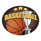 Oval Dome Insert, Full Colour Basketball-D&G Trophies Inc.-D and G Trophies Inc.