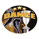 Oval Dome Insert, Full Colour Dance-D&G Trophies Inc.-D and G Trophies Inc.