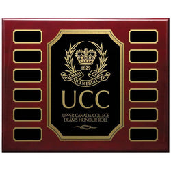 Photo Finish Notched Corner Annual Plaque Hardwood Annual-D&G Trophies Inc.-D and G Trophies Inc.