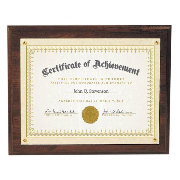 "Plaque, Recessed 10.5""x13""-D&G Trophies Inc.-D and G Trophies Inc."