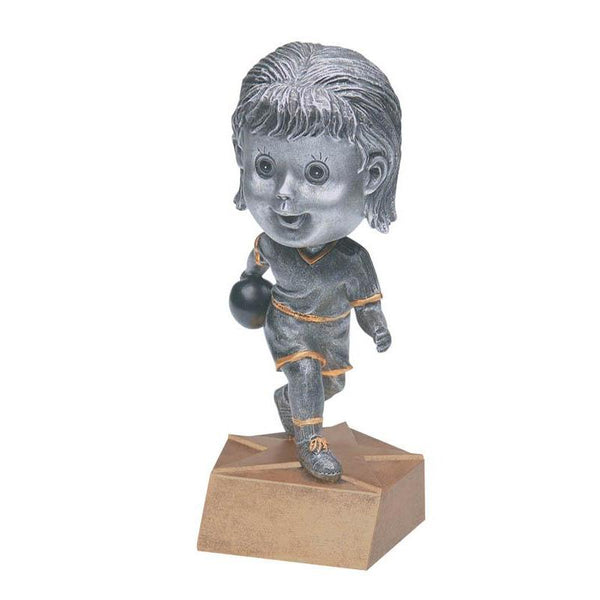 "Resin - Bobblehead Female Bowler 5.75""-D&G Trophies Inc.-D and G Trophies Inc."