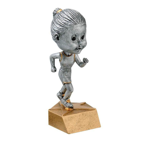 "Resin - Bobblehead Female Track 5.75""-D&G Trophies Inc.-D and G Trophies Inc."