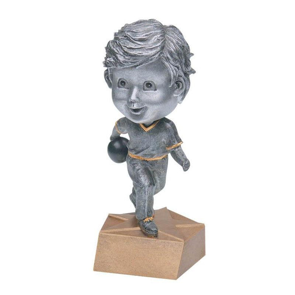 "Resin - Bobblehead Male Bowler 5.75""-D&G Trophies Inc.-D and G Trophies Inc."