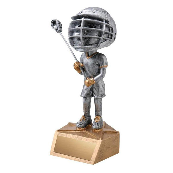 "Resin - Bobblehead Male Lacrosse 5.75""-D&G Trophies Inc.-D and G Trophies Inc."