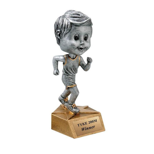 "Resin - Bobblehead Male Track 5.75""-D&G Trophies Inc.-D and G Trophies Inc."