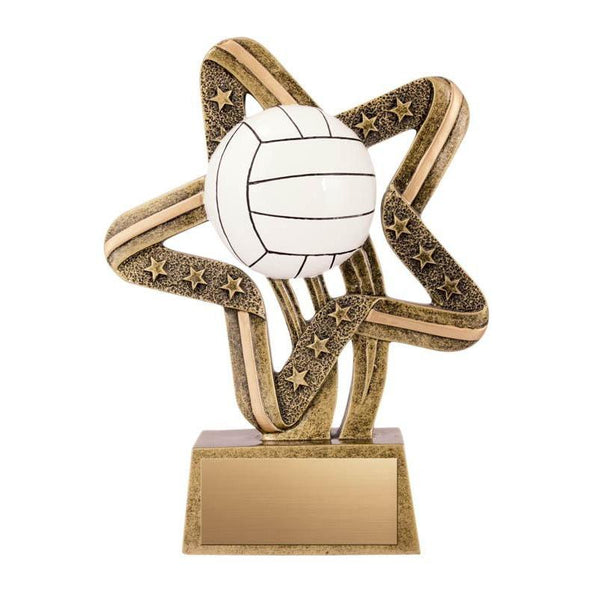 "Resin Comet Volleyball 6""-D&G Trophies Inc.-D and G Trophies Inc."
