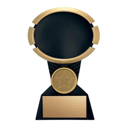 Resin Oval Impact Black Holder-D&G Trophies Inc.-D and G Trophies Inc.