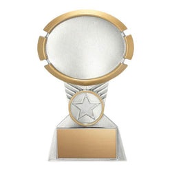 Resin Oval Impact Silver/Gold Holder-D&G Trophies Inc.-D and G Trophies Inc.