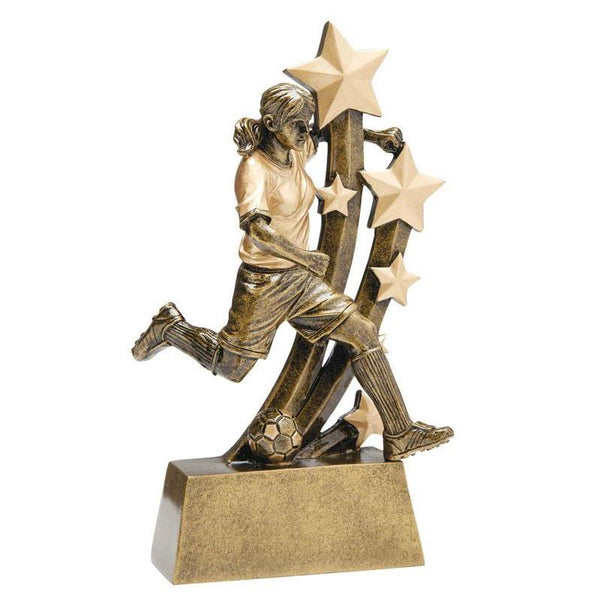 "Resin Sentinel Soccer, Female 6""-D&G Trophies Inc.-D and G Trophies Inc."