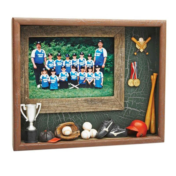 Resin Shadow Box Baseball-D&G Trophies Inc.-D and G Trophies Inc.