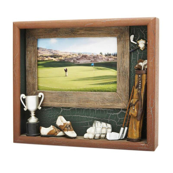 Resin Shadow Box Golf-D&G Trophies Inc.-D and G Trophies Inc.