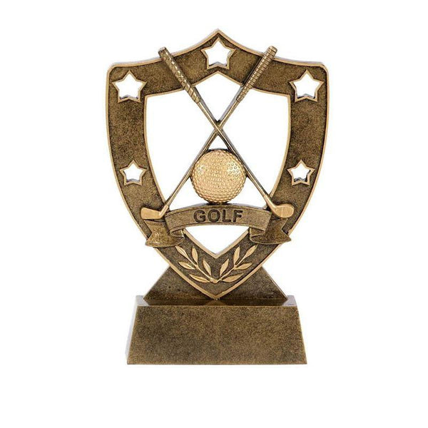 Resin Shield Star Golf-D&G Trophies Inc.-D and G Trophies Inc.