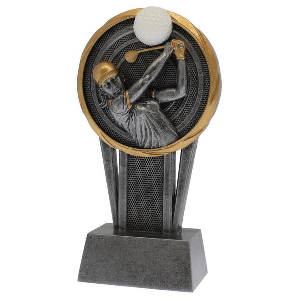 "Resin Vortex Female Golfer, 7""-D&G Trophies Inc.-D and G Trophies Inc."