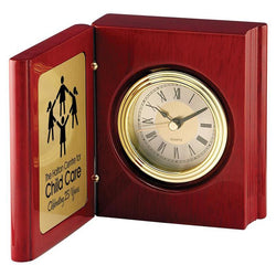 rosewood book clock giftware-D&G Trophies Inc.-D and G Trophies Inc.