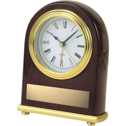 rosewood oval clock giftware-D&G Trophies Inc.-D and G Trophies Inc.
