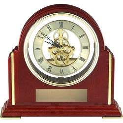 rosewood skeleton clock giftware-D&G Trophies Inc.-D and G Trophies Inc.
