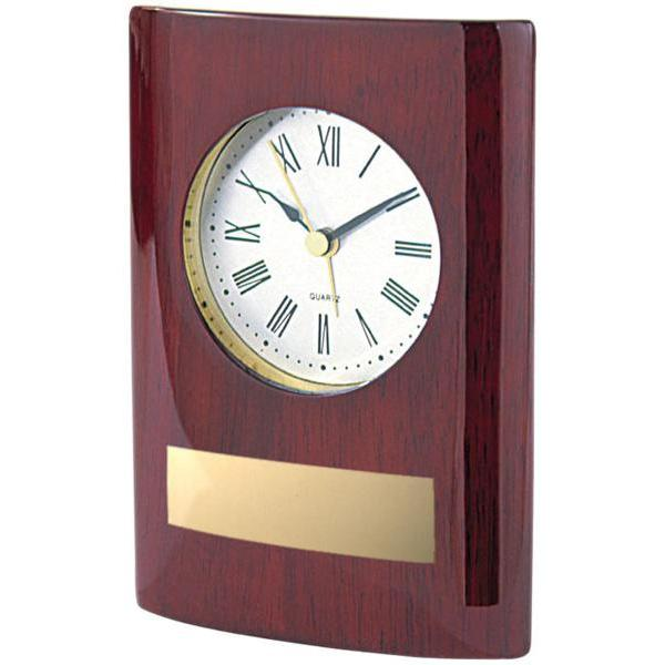 rosewood stand-up clock giftware-D&G Trophies Inc.-D and G Trophies Inc.