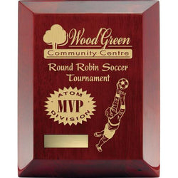 Rosewood Wide Bevel Laser Engraved Piano Finish-D&G Trophies Inc.-D and G Trophies Inc.