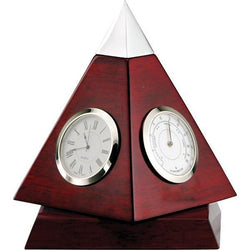 rotating rosewood pyramid clock giftware-D&G Trophies Inc.-D and G Trophies Inc.